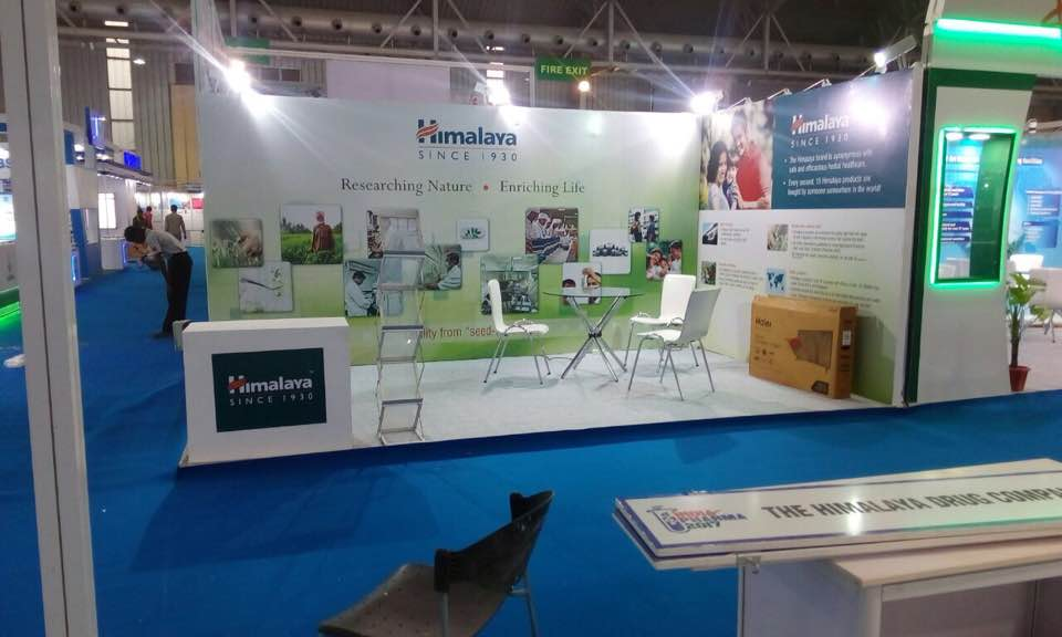 Exhibition Stall Names : Himalaya exhibition stall setup bangalore international
