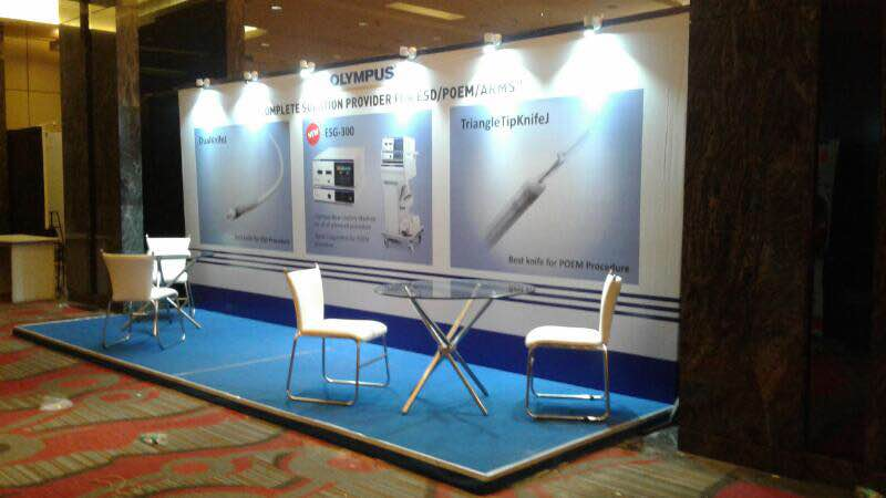 Exhibition Stall Names : Olympus small exhibition stall setup pune madiha event